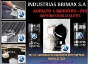 VENDEMOS EL MEJOR ASFALTO RC-250 BRIMAX-PERU CEL 988190937