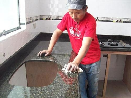 Baldosa Para Baño Alfa:fotos de tableros de granito y marmol para cocinas y ba os en lima