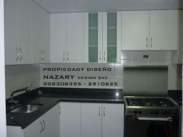 Fotos de muebles de cocina en melamina  closets tableros de granito
