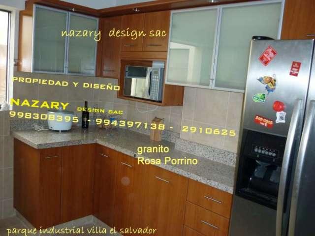 Muebles de cocina en melamina  closets tableros de granito en Lima