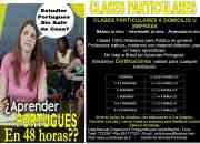 CLASES PARTICULARES DE  PORTUGUES INTENSIVAS EN 48 HRS
