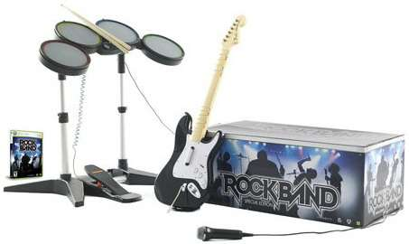 Batería, guitarra y micrófono rock band para play station 2 (ps2)