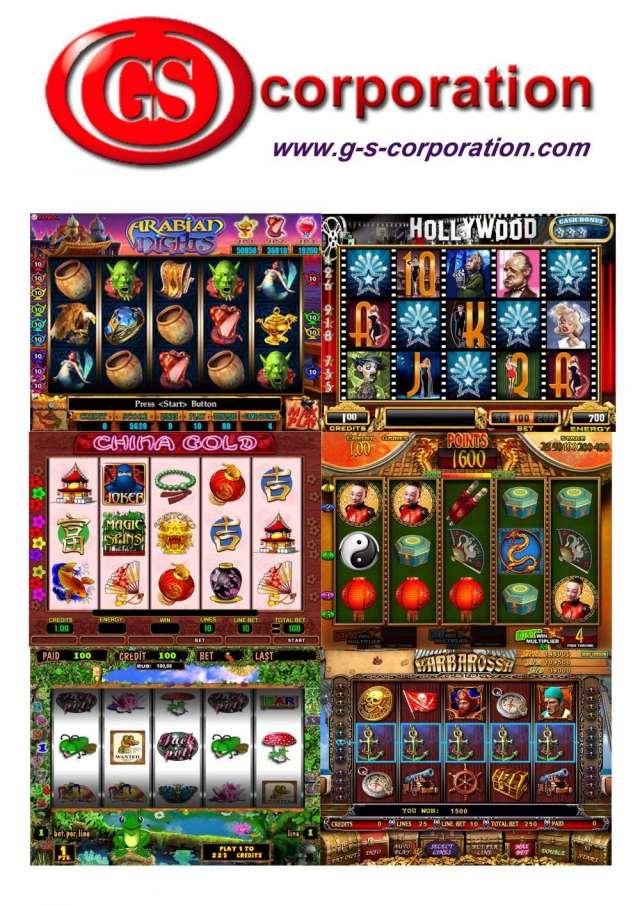 Máquinas de juego y accesorios