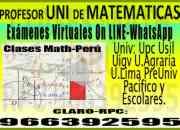 Profesor uni de matemáticas 2014 a universitarios…