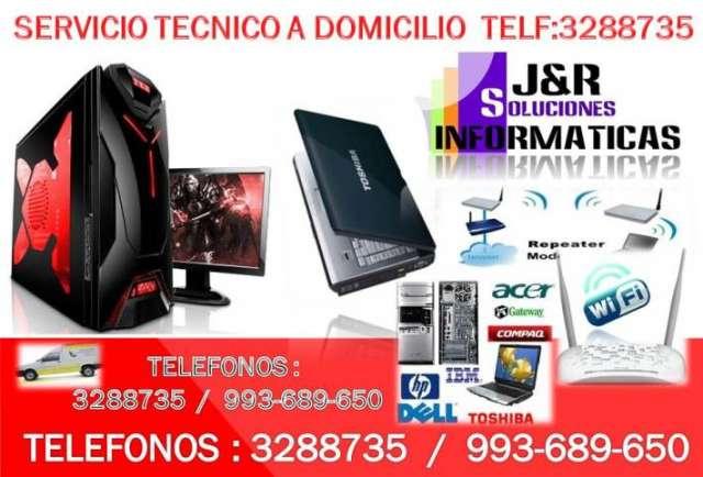 Servicio tecnico a computadoras,laptops,configuracion outlook,redes wifi,a domicilio