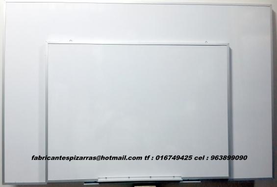 Pizarras acrílicas 80 x 120 cm blancas de 160 x 80cm de 120 x 80cm de 80 x 60 etc.
