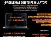Servicio Tecnico En Computadoras y Laptop a Domicilio Todo Lima