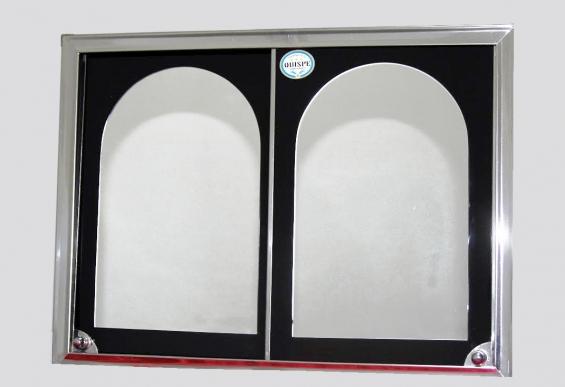 """Modelo """"corredizo"""" caja: 12 x 15 ½ costo:  esmaltado con marcos y borde acerado  s/. 60 (nuevos  soles) esmaltado con apliques: s/. 65 (nuevos soles)  acero: s/. 90 (nuevos  soles)"""