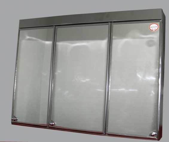 """Modelo """"pantalla chica"""" caja:  26 x 19 1/2 puertas de costado:  7 3/8  x 17 ¾  costo: esmaltado con marcos y borde acerado:  s/. 100 (nuevos  soles)"""