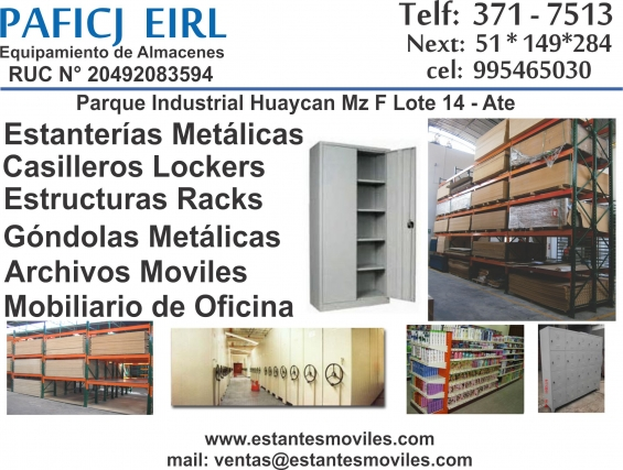 Casilleros lockers metalicos