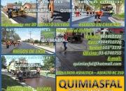 Asfaltos y emulsiones asfalticas quimiasfal