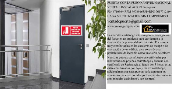 Puertas cortafuego preventivos