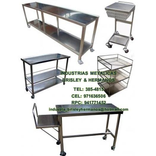 Muebles en aceros inoxidable.diferente diseños