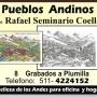 Pueblos Andinos, grabados dibujos ,regalo o decorar