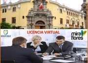 ALQUILO OFICINA VIRTUAL CON LICENCIA MUNICIPAL EN MIRAFLORES