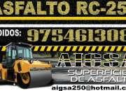 Venta de asfalto rc-250  x cilindros incluido igv