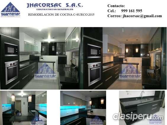 Diseño y fabricacion de muebles de cocina, oficina, comercial y acabados en general