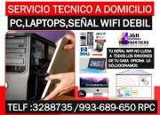 Tecnico de Pc laptops,instalacion Repetidores wifi,router,windows 10 a domicilio