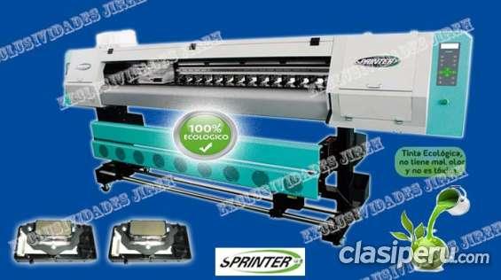 Maquina de gigantografia sprinter eco premiun e 2800 alta resolucion - 1.80m 1440