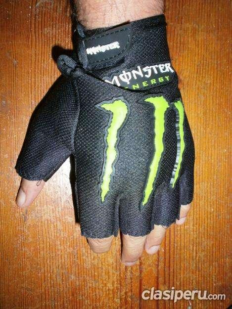 Tengo para vender bicicleta, fitness, guantes mitones monster talla m nuevos super oferta.
