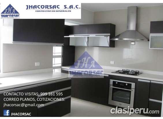 Diseño y fabricacion de muebles de cocina, comercial, oficina y acabados en general