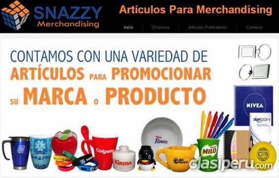 Snazzy eirl. artículos publicitarios