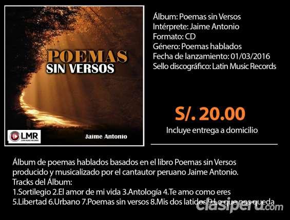 Cd álbum poemas sin versos/jaime antonio/poemas hablados