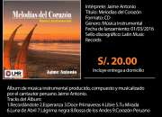 Venta cd álbum melodías del corazón/jaime antonio…