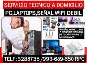Servicio tecnico a computadoras,internet wifi,laptops,redes wifi,a domicilio