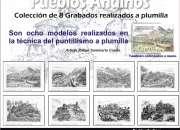 Pueblos andinos  colección de 8 grabados