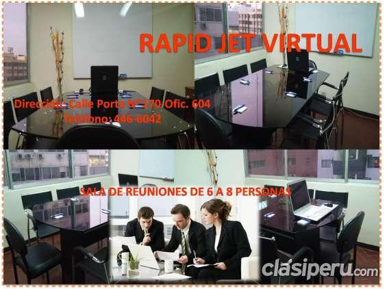 Alquiler de oficina virtual + sala de reunión