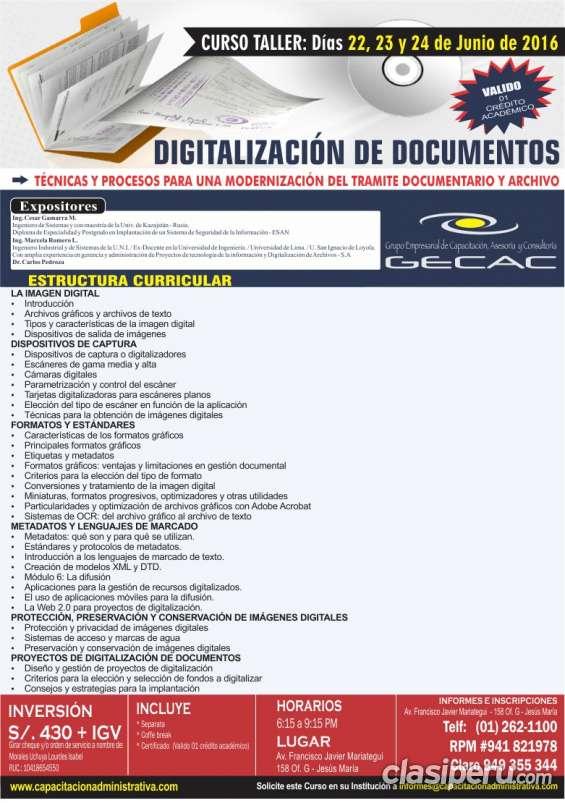 Digitalización de documentos y archivos
