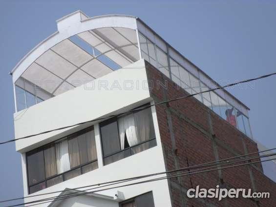 Cielo rasos- baldosas techos de policarbonato - drywall