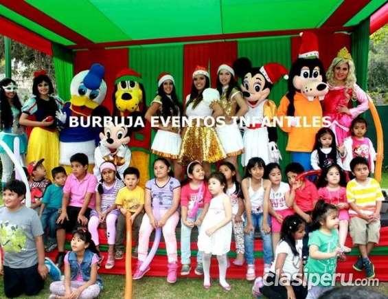 Burbuja eventos fiestas infantiles show navideño