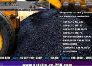 IMPERMEABILIZANTES ASFALTICO -ASFALTO RC 250 LIQUIDO -BREA X BLOQUE Y LIQUIDO