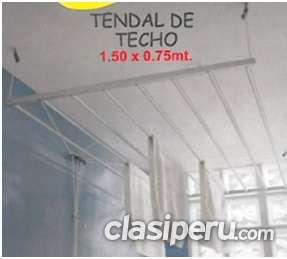 Tendal de aluminio / colgador de aluminio / tendedero de aluminio / de ropa / anclado / te