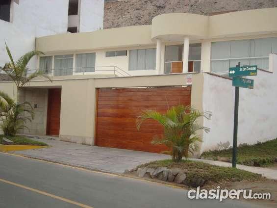 Casa santiago surco urb casuarinas precio incluye muebles at 532 mts2
