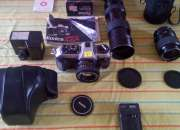 Camara fotografica konica ft1 con sus 3 lentes