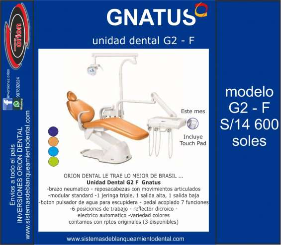 Sillon unidad dental gnatus g2