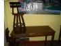 vendo sillas mesas de maderas todas entalladas