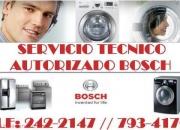 ♋ BOSCH ♋ especialistas en lavadoras - refrigeradoras - cocinas ♋ Tel : 242- 2147  A & S