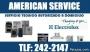 @ ELECTROLUX @  AMERICAN  SERVICE @ servicio tecnico a domicilio @ TEL :242-2147