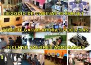 AHORA  CABINAS INTERNET  totalmente implementadas gane arriba $3000
