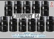 Venta de emulsiones asfalticas y asfaltos liquidos (imprimacion,impermeabilizante) chemiport