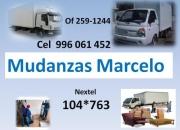 transporte y mudanza marcelo CVEL 996061452  NEX 104*763