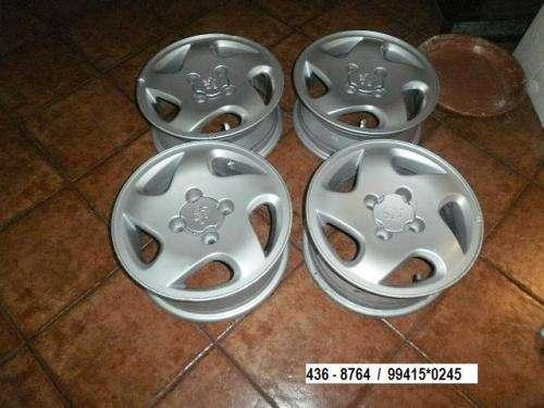 """Vendo aros 14"""" para peugeot de aluminio para modelos 306 o 405"""
