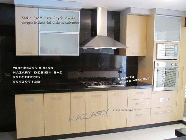 Muebles de cocina en melamina - closets- tableros de granito
