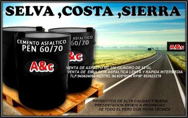 Super venta de asfalto rc-250 emulision cationica etc 100% calidad y garantia