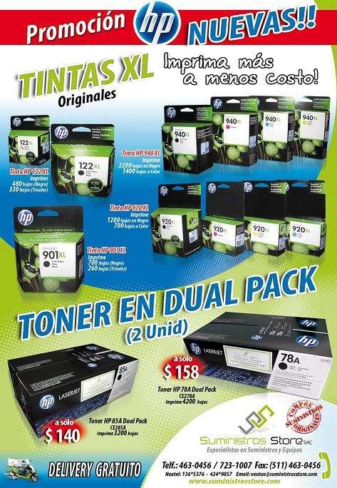 Toner y tintas originales -delivery gratuito en lima metropolitana