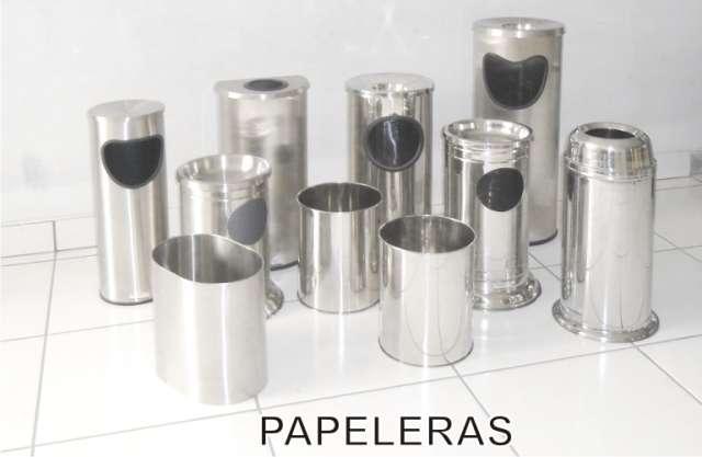 Ventas papeleras/tachos/ceniceros en aluminio inoxidable
